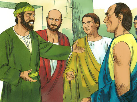 So Paul stayed there for the next year and a half, teaching the word of God. – Slide 9
