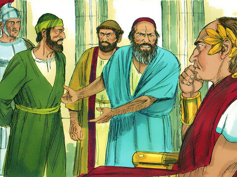 When Gallio became governor of Achaia, some Jews plotted against Paul and brought him before the governor. They accused Paul of 'persuading people to worship God in ways that are contrary to Jewish law.' – Slide 10