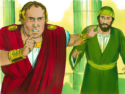 As Paul started to make his defense, Gallio turned to Paul's accusers and said, 'Listen, you Jews, if this were a case involving some wrongdoing or a serious crime, I would listen to your case.  – Slide 11