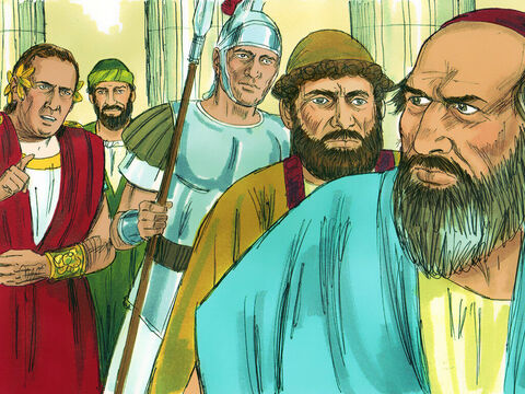 'But since it is merely a question of words and names and your Jewish law, take care of it yourselves. I refuse to judge such matters.' The case was dismissed. Paul stayed in Corinth for some time after that. – Slide 12
