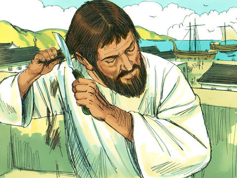 Paul then said good-bye to the Christians in Corinth and and went to the nearby port of Cenchrea. There he took a vow, (probably that of a Nazarite - Leviticus 6). After the time of the vow was over, he shaved his head according to Jewish custom. – Slide 13