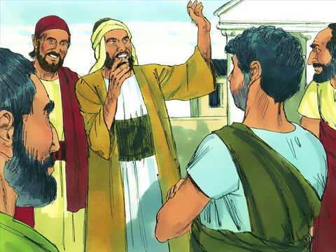 Acts11:19-26 After Stephen's death many Christians were persecuted and fled from Jerusalem. Wherever they went they told other Jews about Jesus. Some who went to Antioch also told people who were not Jews (Gentiles) about Jesus and many believed in Him. – Slide 1