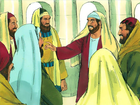 Paul accepted the invitation, joining Barnabas, Simeon, Lucius and Manaen teaching the new Christians how to live for God. This team of five prophets and teachers led the church in Antioch. Paul was with them for over a year. – Slide 7