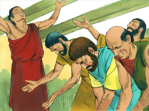 One day, as these men were worshiping and fasting, the Holy Spirit said, 'Dedicate Barnabas and Saul (Paul) for the special work I want them to do.' – Slide 8