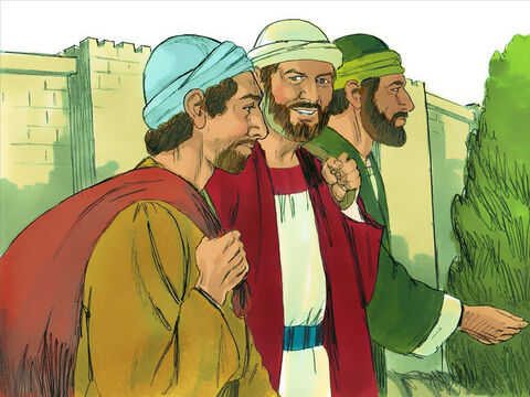 So after more fasting and prayer, they laid their hands on Paul and Barnabas and sent them on their way. A cousin of Barnabas called John Mark joined them on their travels. – Slide 9