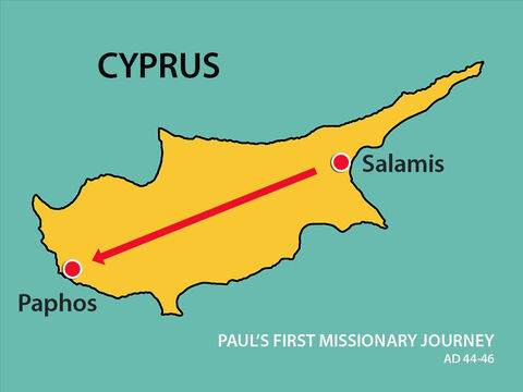 Eventually they arrived at Paphos where the Roman Proconsul, Sergius Paulus, lived and ruled. The proconsul, an intelligent man, sent for Barnabas and Saul because he wanted to hear the Word of God. – Slide 15