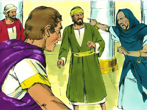 A Jewish sorcererand false prophet, Bar-Jesus (also called Elymas), opposed what Paul and Barnabas were telling the Proconsul. Paul, filled with the Holy Spirit,looked straight at Elymas. – Slide 16