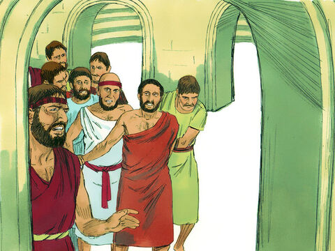 They dragged two of Paul's travelling companions from Macedonia, Gaius and Aristarchus, into the amphitheatre with them. – Slide 7