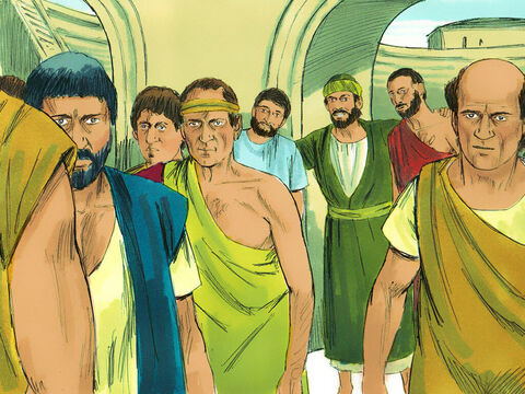 The city clerk dismissed them and they dispersed. When the uproar had ended, Paul sent for the disciples and, after encouraging them, said goodbye and set out for Macedonia. – Slide 14