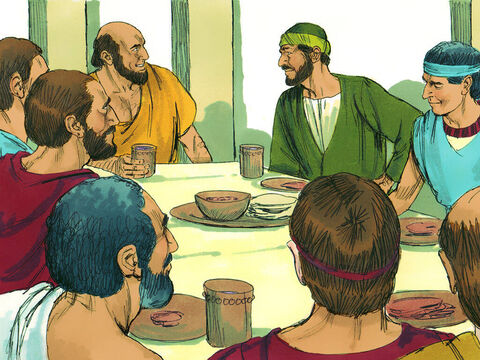 He met with the followers of Jesus in Ephesus and asked them. 'Did you receive the Holy Spirit when you believed?' – Slide 2
