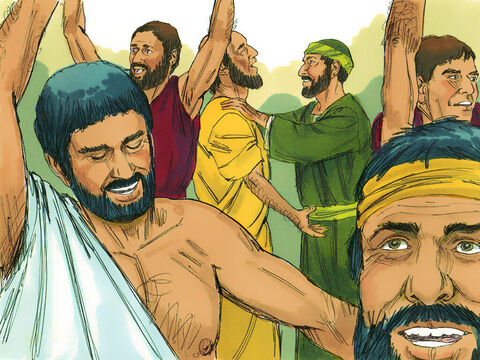 Then when Paul laid his hands on them, the Holy Spirit came on them, and they spoke in other tongues and prophesied. There were about twelve men in all. – Slide 5