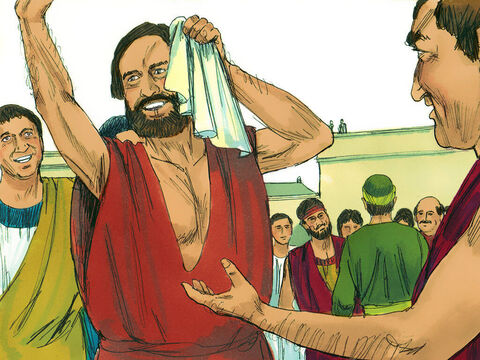 God gave Paul the power to perform unusual miracles. When handkerchiefs or aprons that had merely touched his skin were placed on sick people, they were healed of their diseases, and evil spirits were expelled. – Slide 7