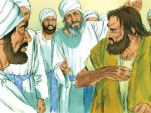 Some Jews tried to copy what Paul was doing. Seven sons of Sceva, a leading priest, were going from town to town casting out evil spirits. They tried to use the name of the Lord Jesus in their incantation, saying, 'I command you in the name of Jesus, whom Paul preaches, to come out!' – Slide 8