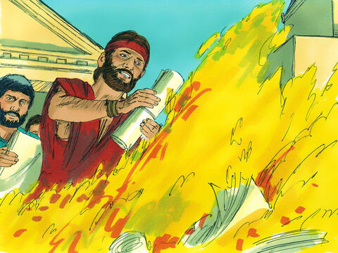 The story of what happened spread quickly through Ephesus and the name of the Lord Jesus was greatly feared and honored.Many who became believers confessed their sinful ways.A number of them who had been practising sorcery brought their expensive occult books and burned them at a public bonfire.So the message about the Lord spread widely and powerfully. – Slide 11