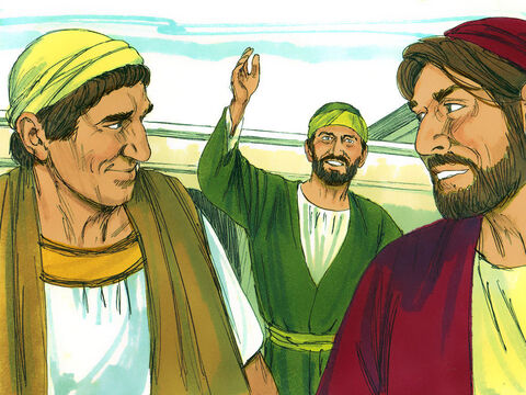 Afterward Paul was compelled by the Holy Spiritto go over to Macedonia and Achaia before going to Jerusalem. He sent his two assistants, Timothy and Erastus, ahead to Macedonia while he stayed a little longer in Asia. – Slide 12