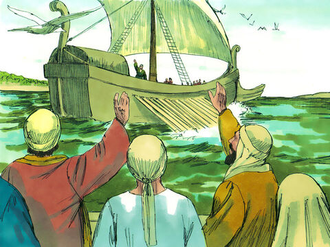Paul sailed from the port of Cenchreae near Corinth with Aquila and Priscilla. – Slide 1