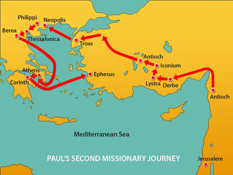 They headed for Ephesus, a major Roman city on the coast of Ionia. – Slide 2