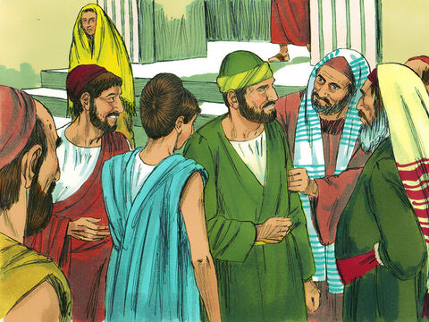 At Ephesus Paul went into the synagogue and reasoned with the Jews. They asked him to spend more time with them, but he declined. He promised, 'I will come back if it is God's will.'  – Slide 3