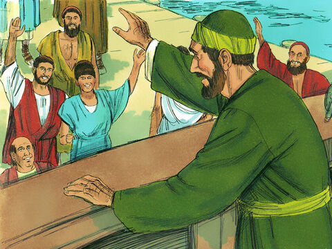 Paul then got on a ship leaving Aquila and Priscilla in Ephesus. – Slide 4