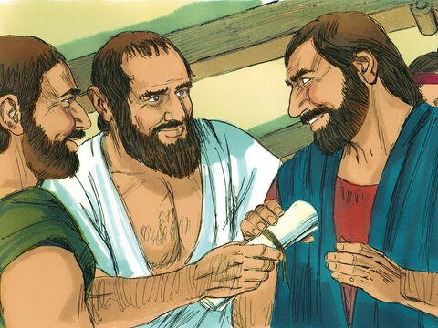 When Apollos decided to go to the region around Corinth to help teach the Christians there, the Christians in Ephesus wrote a letter asking the disciples there to welcome him. – Slide 9