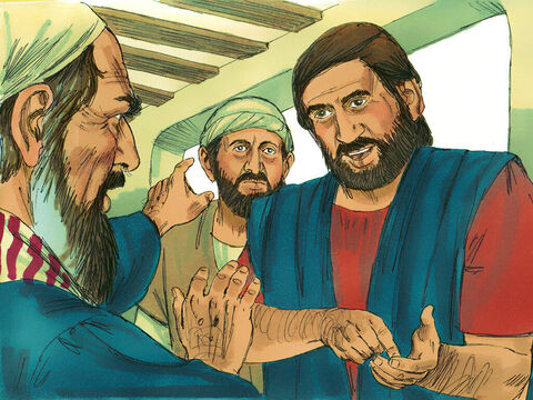 When he arrived, he was a great help to the Christians there. He vigorously refuted his Jewish opponents in public debate, proving from the Scriptures that Jesus is the Messiah. – Slide 10
