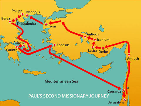 From Jerusalem Paul returned to Antioch in Syria. – Slide 13