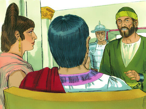 A few days later Felix and his wife, Drusilla, who was Jewish, sent for Paul. They listened as he told them about faith in Christ Jesus. – Slide 8