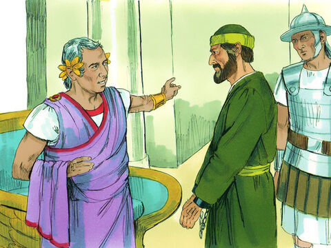 Festus conferred with his advisers and then replied, 'Very well! You have appealed to Caesar, and to Caesar you will go!' – Slide 4