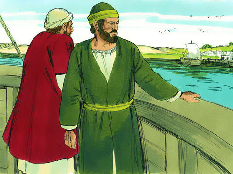 When Paul and Barnabas returned from their first missionary trip they spent time with the Christians at Antioch teaching and encouraging them to obey God. – Slide 1