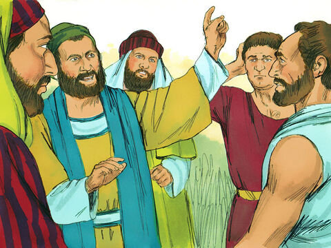 However some men from Judea arrived who told the Gentile Christians that unless they were circumcised, as the laws of Moses required for Jews, they could not be saved. Paul and Barnabas disagreed strongly with what they said. – Slide 2
