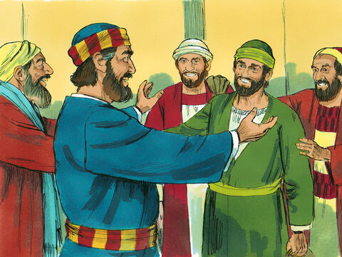 When they arrived in Jerusalem, Barnabas and Paul were welcomed by the whole church including the apostles and elders. They reported everything God had done through them. – Slide 4