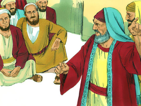 However, some of the believers who were Pharisees stood up and insisted, 'The Gentile converts must be circumcised and follow the law of Moses.' So the apostles and elders met together to resolve this issue. – Slide 5