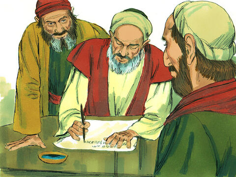 A letter to this effect was written to the Gentile Christians in Antioch, Syria, and Cilicia. Two men were chosen to deliver the letter, Judas (also called Barsabbas) and Silas. – Slide 11