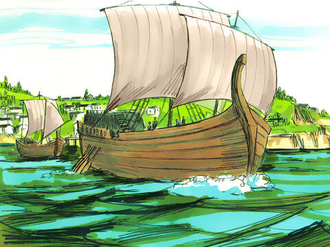 Here Paul and his companions boarded a ship heading for the coast of Phoenicia – Slide 2