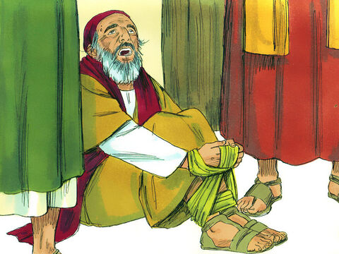 Several days later, a prophet named Agabus arrived from Judea.He took Paul's belt, and bound his own feet and hands with it. He then said, 'The Holy Spirit declares that the owner of this belt will be bound by the Jewish leaders in Jerusalem and turned over to the Gentiles. ' – Slide 8
