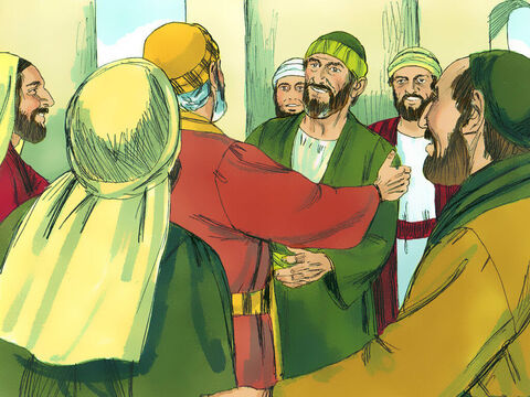 When they arrived in Jerusalem they got a warm welcome from the Christians there. – Slide 12