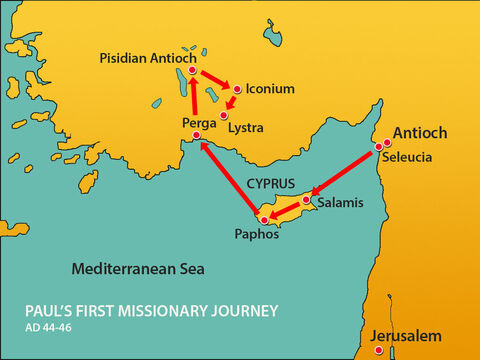 After fleeing from Iconuim Paul and Barnabas travelled south to the town of Lystra. – Slide 1