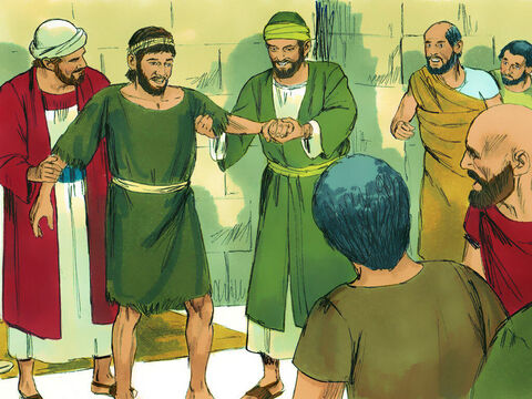 So Paul called to him in a loud voice, 'Stand up!' And the man jumped to his feet and started walking. The crowds who saw this started shouting in their local dialect, 'These men are gods in human form!' – Slide 3