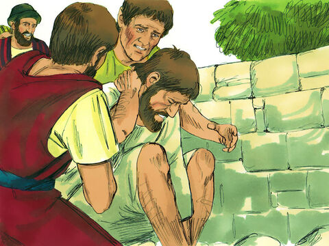 But as the believersgathered around Paul, he got up and went back into the town. – Slide 7
