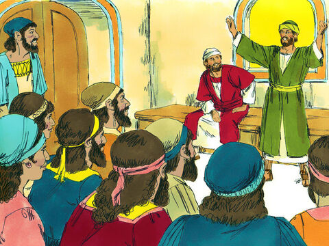 Paul and Barnabas called the church in Antioch together to report everything God had done through them and shared how the Gentiles had become followers of Jesus.They then stayed in Antioch for a long time encouraging the believers. – Slide 13