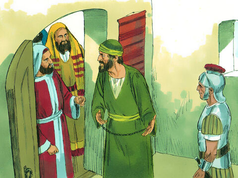 At Puteoli Paul found some Christians,who invited him to spend a week with them. – Slide 7