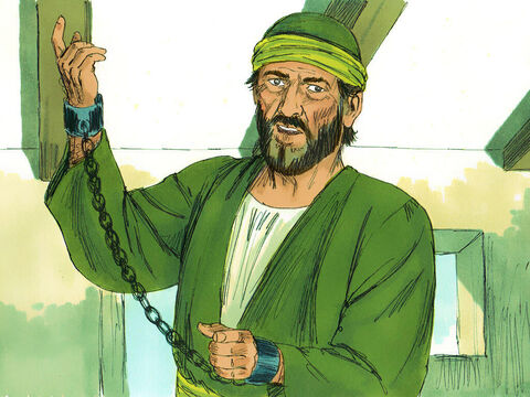 Using the law of Moses and the books of the prophets, he spoke to them from morning until evening – Slide 14