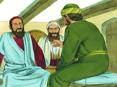 Some were persuaded by the things he said, but others did not believe. 'I want you to know that this salvation from God has also been offered to the Gentiles, and they will accept it,' Paul told them. – Slide 15