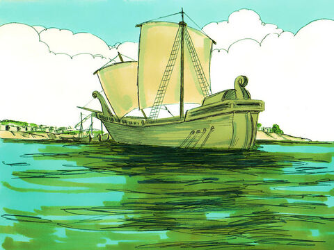 The commanding officer found an Egyptian ship that was bound for Italy and put Paul and the other prisoners on board. – Slide 4