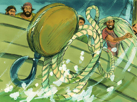 The following day they even took some of the ship's gear and threw it overboard. – Slide 11
