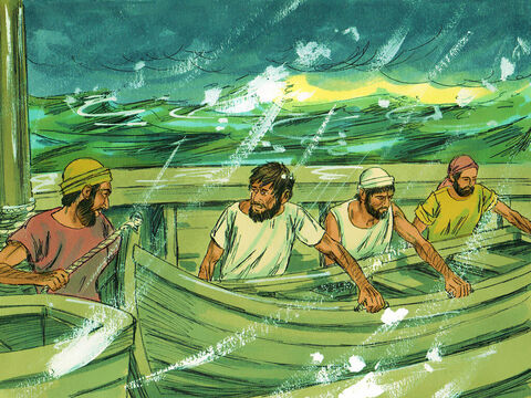 The sailors planned to abandon the ship by lowering the lifeboat. – Slide 17