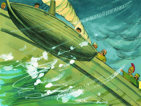 Paul said to the commanding officer and the soldiers, 'You will all die unless the sailors stay aboard.'So the soldiers cut the ropes to the lifeboat and let it drift away. – Slide 18