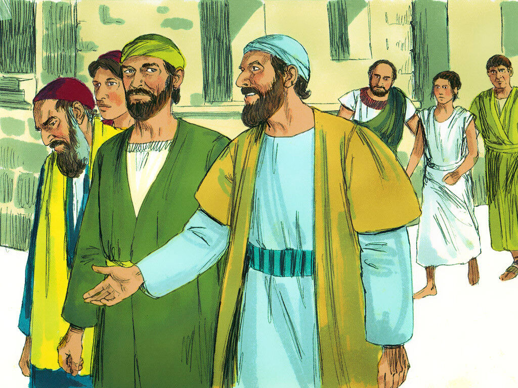 FreeBibleimages :: Paul and Silas in Prison :: Paul and