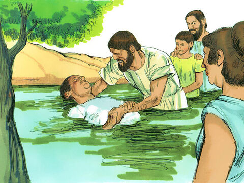 The jailer cared for them and washed their wounds. Then he and everyone in his household were immediately baptised. He gave them a meal in his house and his entire household rejoiced because they all believed in God. – Slide 10