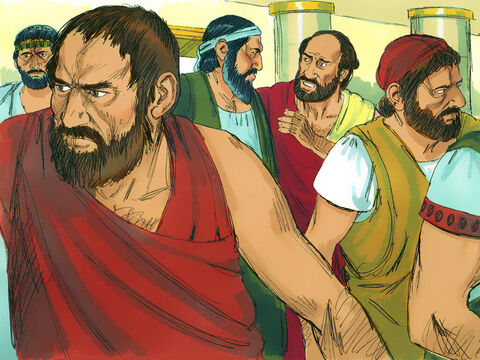 But other Jews were jealous and gathered troublemakers from the marketplace to form a mob. They attacked the home of Jason, hoping to capture Paul and Silas. When they could not find them, they grabbed Jason and some of the other believers and dragged them before the city council. – Slide 5